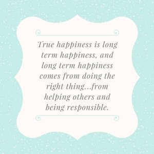 True Happiness Quote