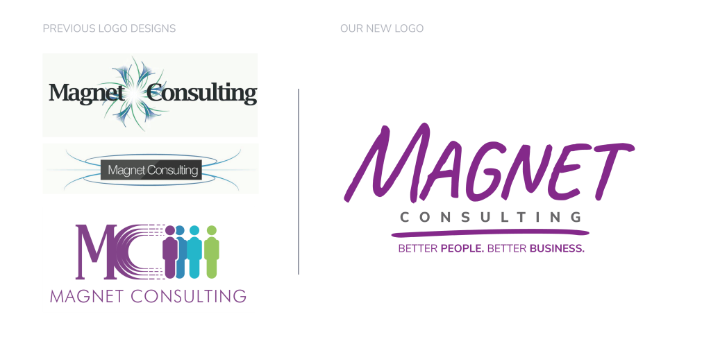 The Evolution of Magnet Consulting's Logo