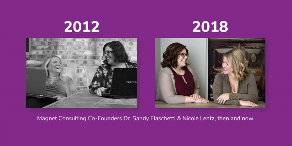 Magnet Consulting's Founders Then & Now